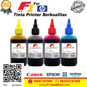 Tinta Printer HP F1 100ml Tahan Air Murah